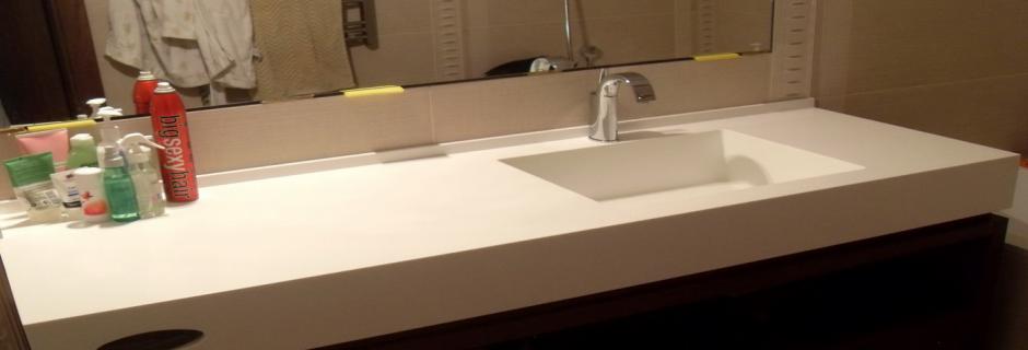 Ванные комнаты из искусственного камня