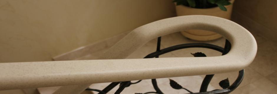 Перила для лестниц из искусственного акрилового камня