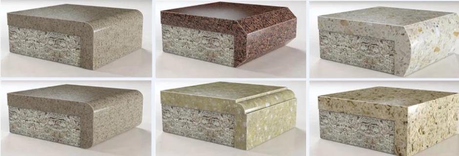 Кромки и бортики из искусственного камня