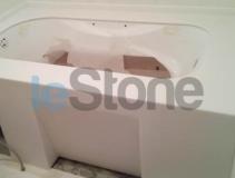 Накладка из искусственного камня на ванную, Staron